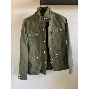 Green J Crew Denim Jacket